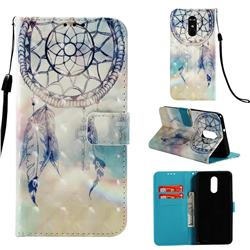 Fantasy Campanula 3D Painted Leather Wallet Case for LG Stylo 4