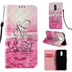 Beautiful 3D Painted Leather Wallet Case for LG Stylo 4
