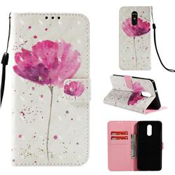Watercolor 3D Painted Leather Wallet Case for LG Stylo 4