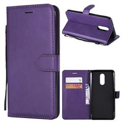 Retro Greek Classic Smooth PU Leather Wallet Phone Case for LG Stylo 4 - Purple