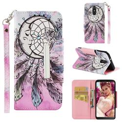 Angel Monternet Big Metal Buckle PU Leather Wallet Phone Case for LG Stylo 4