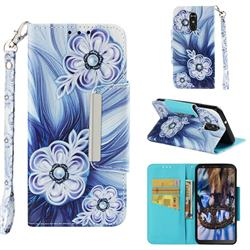 Button Flower Big Metal Buckle PU Leather Wallet Phone Case for LG Stylo 4