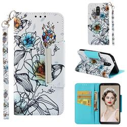 Fotus Flower Big Metal Buckle PU Leather Wallet Phone Case for LG Stylo 4