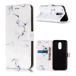 Soft White Marble PU Leather Wallet Case for LG Stylo 4