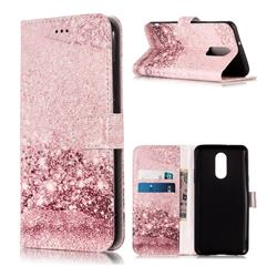 Glittering Rose Gold PU Leather Wallet Case for LG Stylo 4