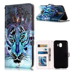 Ice Wolf 3D Relief Oil PU Leather Wallet Case for LG Stylo 4