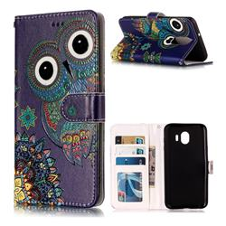 Folk Owl 3D Relief Oil PU Leather Wallet Case for LG Stylo 4