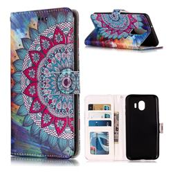 Mandala Flower 3D Relief Oil PU Leather Wallet Case for LG Stylo 4