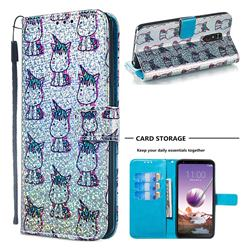 Little Unicorn Sequins Painted Leather Wallet Case for LG Stylo 4