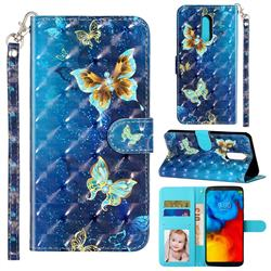 Rankine Butterfly 3D Leather Phone Holster Wallet Case for LG Stylo 4