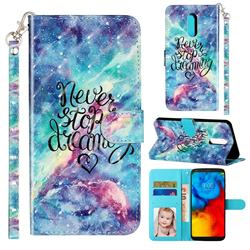 Blue Starry Sky 3D Leather Phone Holster Wallet Case for LG Stylo 4