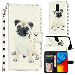 Pug Dog 3D Leather Phone Holster Wallet Case for LG Stylo 4