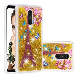 Golden Tower Dynamic Liquid Glitter Quicksand Soft TPU Case for LG Stylo 5
