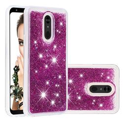 Dynamic Liquid Glitter Quicksand Sequins TPU Phone Case for LG Stylo 5 - Purple