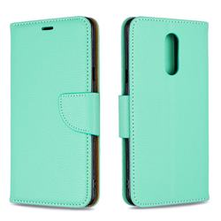Classic Luxury Litchi Leather Phone Wallet Case for LG Stylo 5 - Green
