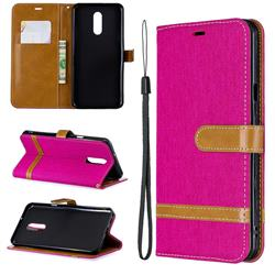 Jeans Cowboy Denim Leather Wallet Case for LG Stylo 5 - Rose