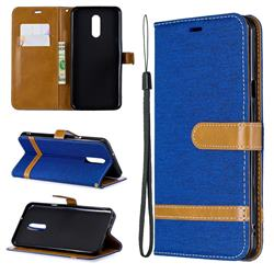 Jeans Cowboy Denim Leather Wallet Case for LG Stylo 5 - Sapphire