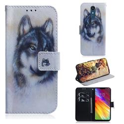 Snow Wolf PU Leather Wallet Case for LG Stylo 5