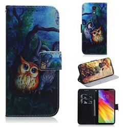 Oil Painting Owl PU Leather Wallet Case for LG Stylo 5