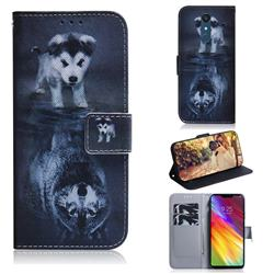 Wolf and Dog PU Leather Wallet Case for LG Stylo 5