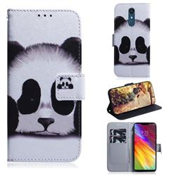 Sleeping Panda PU Leather Wallet Case for LG Stylo 5