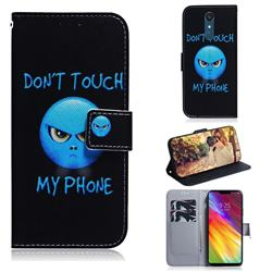 Not Touch My Phone PU Leather Wallet Case for LG Stylo 5