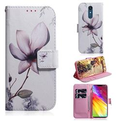 Magnolia Flower PU Leather Wallet Case for LG Stylo 5