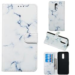 Soft White Marble PU Leather Wallet Case for LG Stylo 5