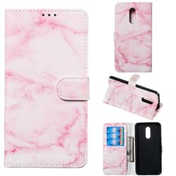 Pink Marble PU Leather Wallet Case for LG Stylo 5