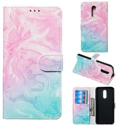 Pink Green Marble PU Leather Wallet Case for LG Stylo 5
