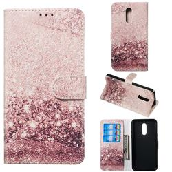Glittering Rose Gold PU Leather Wallet Case for LG Stylo 5