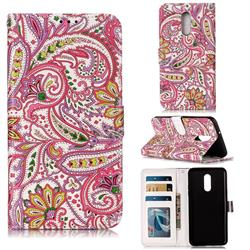 Pepper Flowers 3D Relief Oil PU Leather Wallet Case for LG Stylo 5