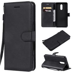 Retro Greek Classic Smooth PU Leather Wallet Phone Case for LG Stylo 5 - Black