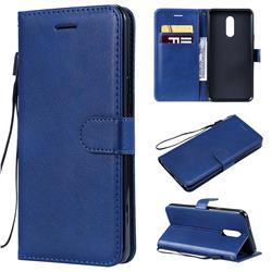 Retro Greek Classic Smooth PU Leather Wallet Phone Case for LG Stylo 5 - Blue