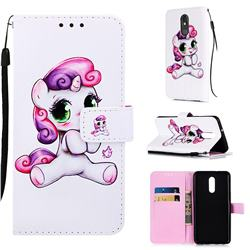 Playful Pony Matte Leather Wallet Phone Case for LG Stylo 5