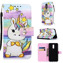 Spiral Pony Matte Leather Wallet Phone Case for LG Stylo 5
