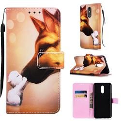 Hound Kiss Matte Leather Wallet Phone Case for LG Stylo 5