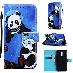 Undersea Panda Matte Leather Wallet Phone Case for LG Stylo 5