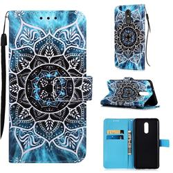Underwater Mandala Matte Leather Wallet Phone Case for LG Stylo 5
