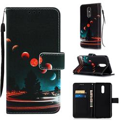 Wandering Earth Matte Leather Wallet Phone Case for LG Stylo 5