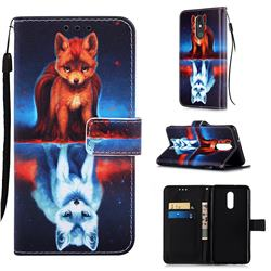 Water Fox Matte Leather Wallet Phone Case for LG Stylo 5