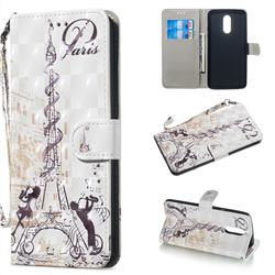 Tower Couple 3D Painted Leather Wallet Phone Case for LG Stylo 5