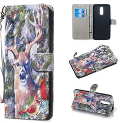 Elk Deer 3D Painted Leather Wallet Phone Case for LG Stylo 5
