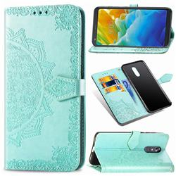 Embossing Imprint Mandala Flower Leather Wallet Case for LG Stylo 5 - Green