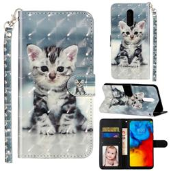 Kitten Cat 3D Leather Phone Holster Wallet Case for LG Stylo 5
