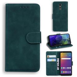 Retro Classic Skin Feel Leather Wallet Phone Case for LG Stylo 5 - Green