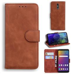 Retro Classic Skin Feel Leather Wallet Phone Case for LG Stylo 5 - Brown