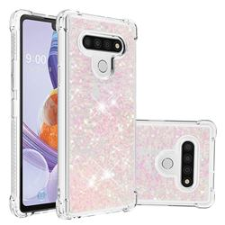 Dynamic Liquid Glitter Sand Quicksand TPU Case for LG Stylo 6 - Silver Powder Star