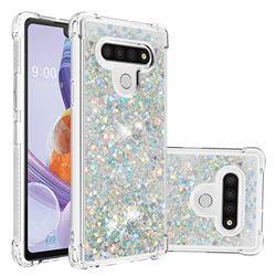 Dynamic Liquid Glitter Sand Quicksand Star TPU Case for LG Stylo 6 - Silver