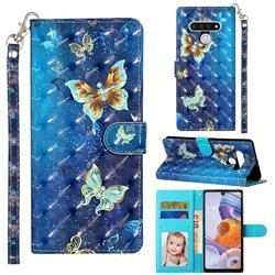 Rankine Butterfly 3D Leather Phone Holster Wallet Case for LG Stylo 6